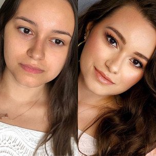 #beforeandaftermakeup of this gorgeous g