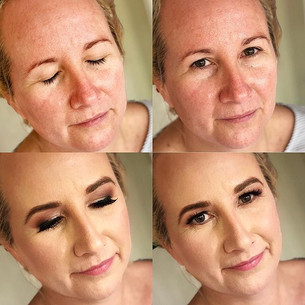 Before and after. Makeup for the gorgeou
