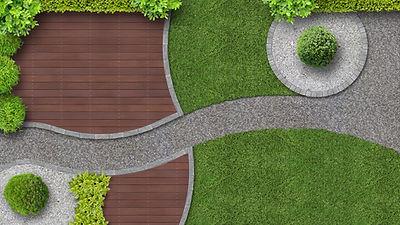 デザインされた裏庭