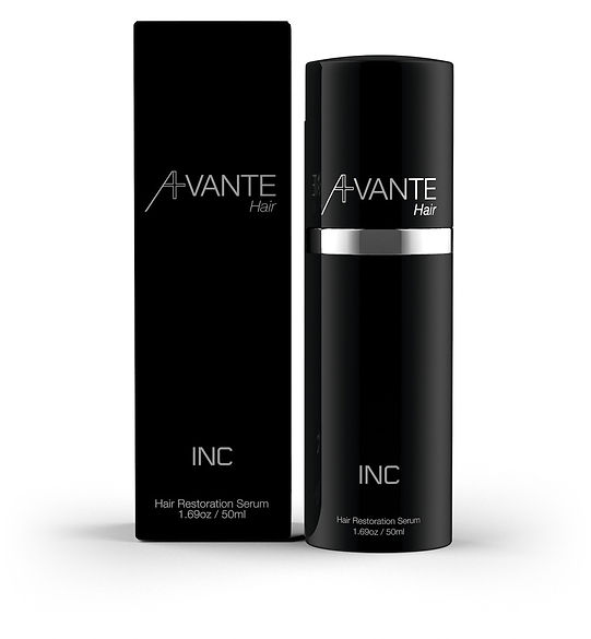 Avante Hair Restoration Serum product packaging.
