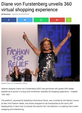 Diane von Furstenburg unveils 360 virtual shopping experience