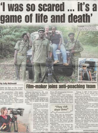 Film-maker joins anti-poaching team