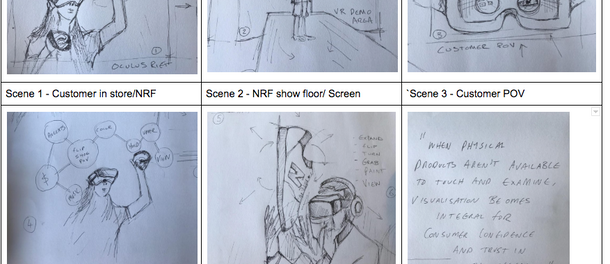 Concept drawings for the New Balance VR App