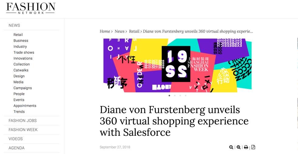 Diane von Furstenburg unveils 360 virtual shopping experience with Salesforce