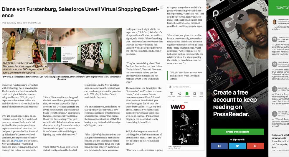 Diane von Furstenburg, Salesforce Unveil Virtual Shopping Experience