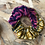 Thumbnail: Chouchou en tissus - Wax Rose et Jaune