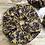 Thumbnail: Chouchou en tissus - Fleuries Jaune/violet