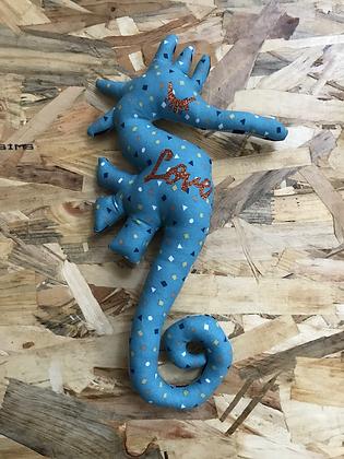 Doudou Hippocampe - Bleu love