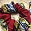 Thumbnail: Chouchou en tissus - WAX rouge/jaune