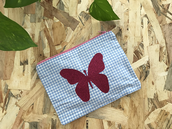 Pochette doublée - Papillon