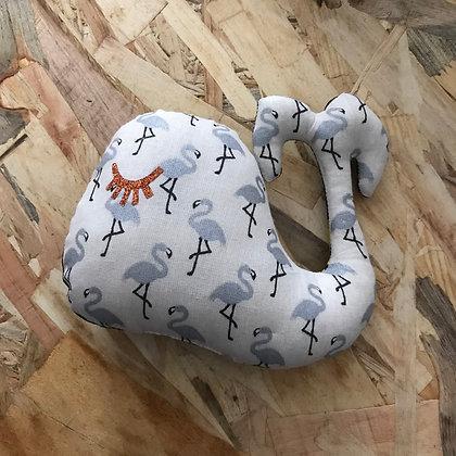 Doudou Baleine - Argenté/wax