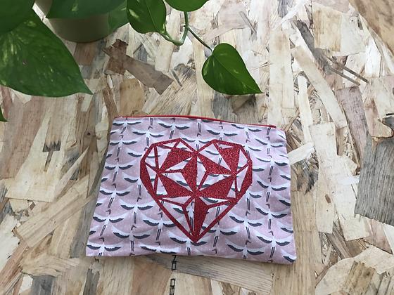 Pochette Doublée - Coeur Origami