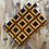 Thumbnail: Pochette Porte clé - Wax Jaune/bleu