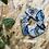 Thumbnail: Chouchou en tissus - Récup tissus seventies bleu