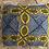 Thumbnail: Coussin - WAX bleu/jaune