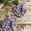 Thumbnail: Chouchou en tissus - Récup tissus fleuries violine