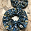 Thumbnail: Chouchou en tissus - Fleuries bleu/jaune