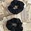 Thumbnail: Chouchou en tissus - Noir à pois doré