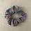 Thumbnail: Chouchou en tissus - Collection Paillettes - Gris/Cuivré