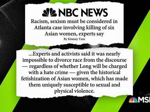 Phân biệt chủng tộc và giới tính phải được xem xét trong vụ thảm sát 6 phụ nữ gốc Á ở Atlanta