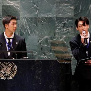 Bài phát biểu của nhóm nhạc BTS tại kỳ họp Đại Hội đồng Liên Hợp Quốc thu hút hơn 1 triệu người xem
