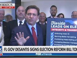 Thống đốc Florida DeSantis phê duyệt luật giới hạn quyền bỏ phiếu tại sự kiện độc quyền Fox News