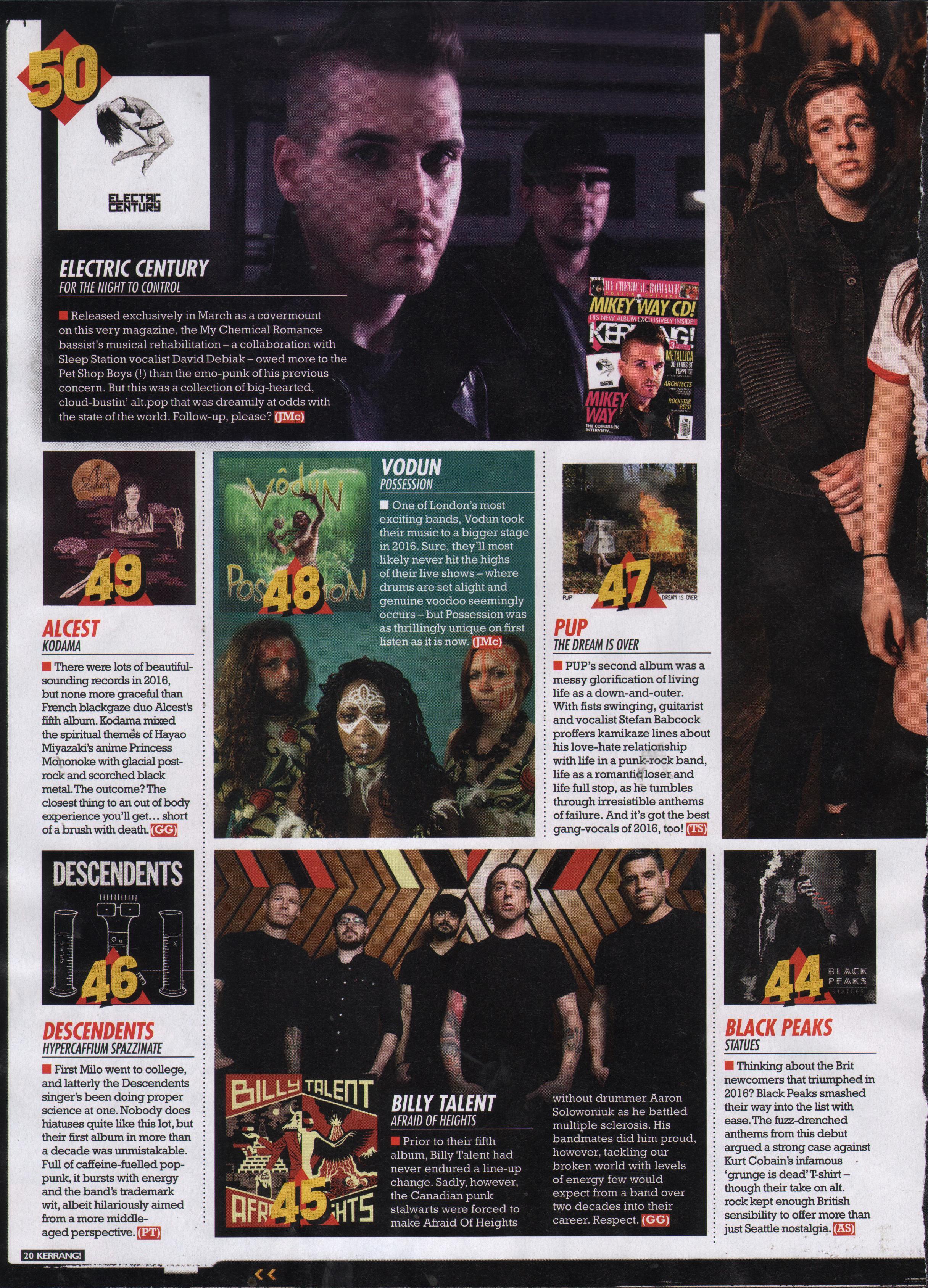 Kerrang Top 50 band of the year 2016