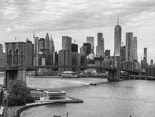 Brooklyn Bridge and Manhattan from Manhattan Bridge, October 2018