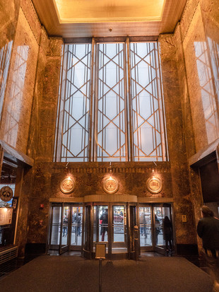 Empire State Building lobby, October 2018