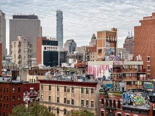 Looking west from Manhattan Bridge, October 2018