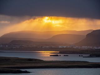 Sunrise in Raykjavik