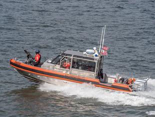 US Coastguards following the Staten Island Ferry, October 2018