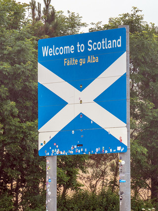 Scotland/England Border A1, July 2018