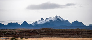 Volcanic peaks near the Gullfoss waterfall