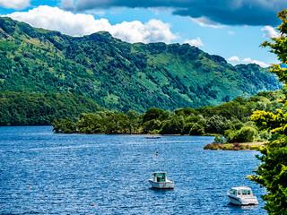 Northern reaches of Loch Lomond at Ardlui
