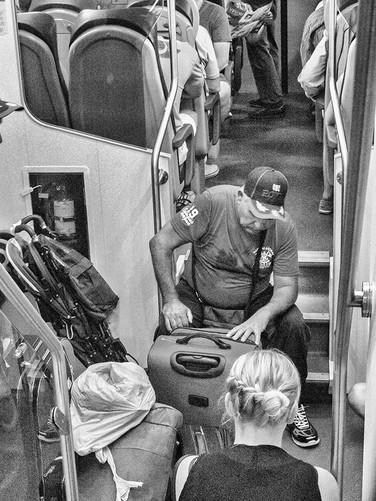 Italian train to Rome, September 2016