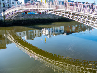Halfpenny Bridge over the River Liffey, September 2019