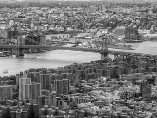 Williamsburg Bridge, from the Empire State Building, October 2018