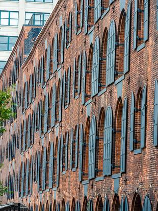 Brooklyn converted warehouse buildings, October 2018