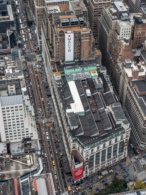 Macy's at Herald Square from the Empire State Building, October 2018