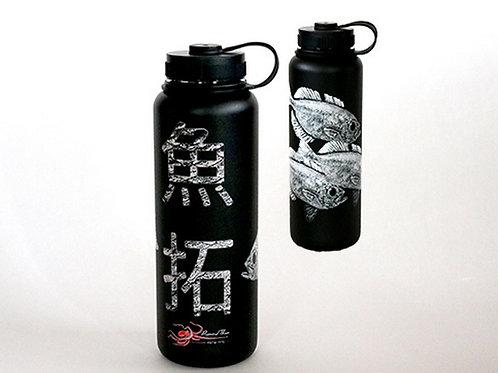 40oz Aweoweo Kanji Flask