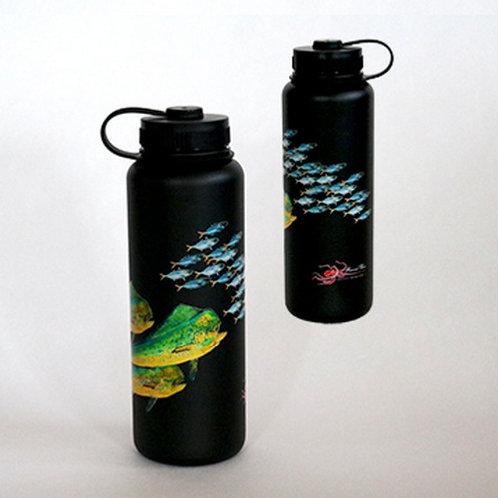 40oz Mahi Mahi Gyotaku Flask