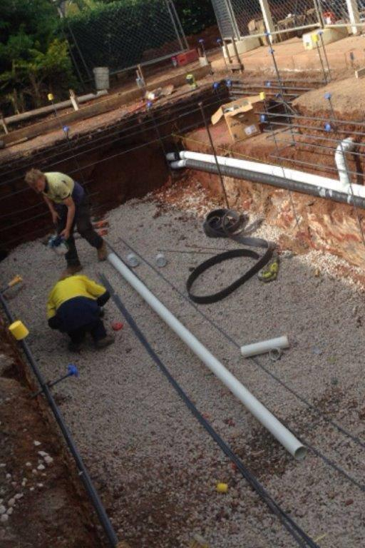 Pool Plumbing for concrete pools