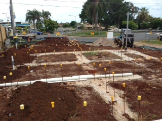Slab Preparation for unit blocks
