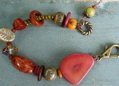 """Fall Festival of colors beaded bracelet 8"""""""