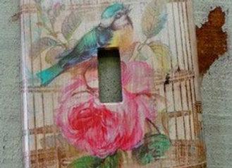 """""""Bird in Cage"""" Single Toggle Wallplate."""