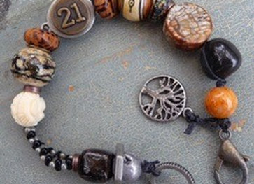 """Tree of Life"" multi beaded bracelet."