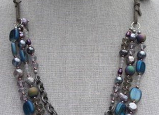 """""""Midnight at the Oasis"""" necklace"""