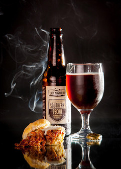 Messina's Pulled Pork Sliders paired wit