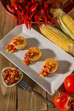 Messina's Crawfish Cheesecakes with Toma